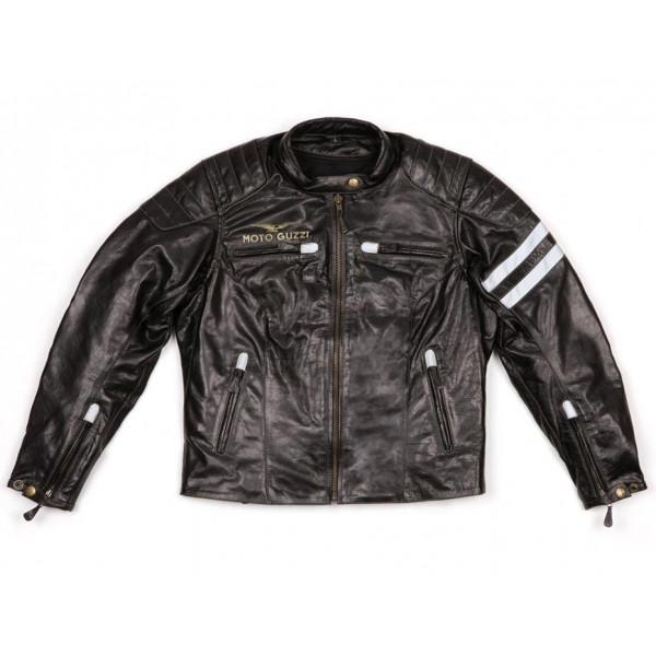 Giacca moto donna pelle Moto Guzzi nero