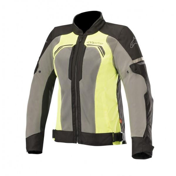 Giacca moto donna touring estiva Alpinestars STELLA DURANGO AIR nero grigio scuro giallo fluo