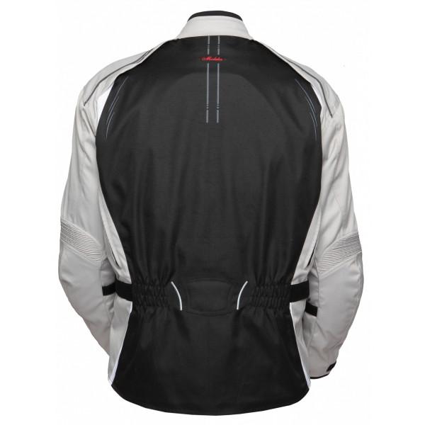 Giacca moto donna touring Modeka Manda nero grigio chiaro