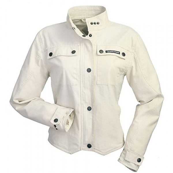 Giacca moto donna Tucano Urbano Shorty Cotton Lady New White bianco