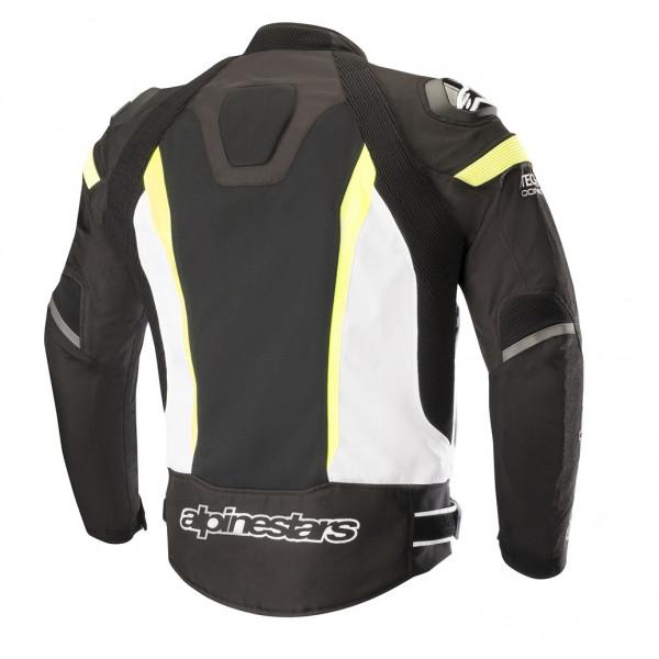 Giacca moto estiva Alpinestars T-MISSILE AIR Tech-Air compatibile nero bianco giallo fluo