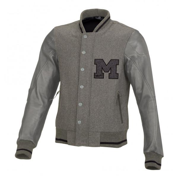 Giacca moto estiva Macna College grigio chiaro grigio medio