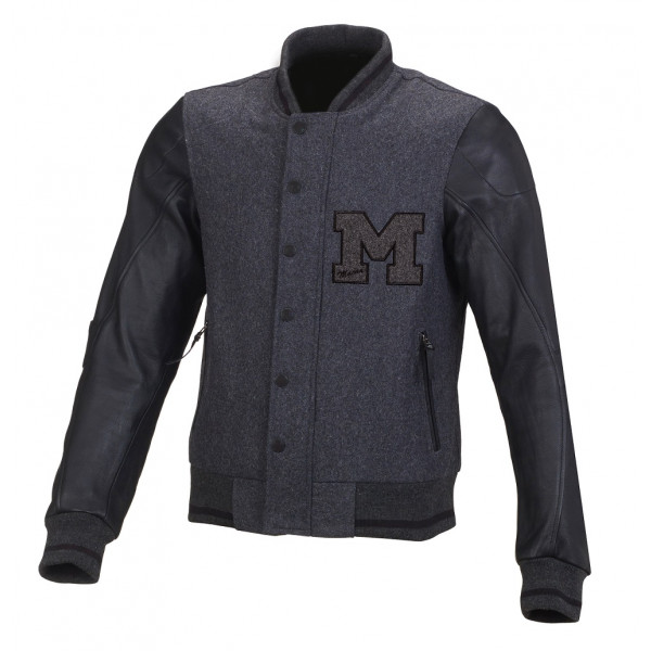 Giacca moto estiva Macna College grigio scuro nero