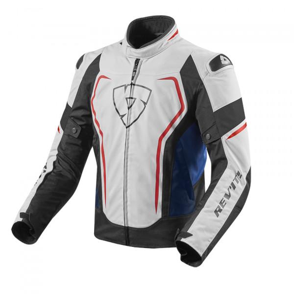 Giacca moto estiva Rev'it Vertex Bianco Blu