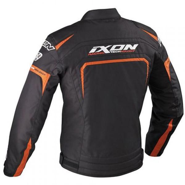 Giacca moto Ixon Eager Nero Bianco Arancio