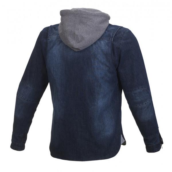 Giacca moto jeans Macna Westcoast con rinforzi in Kevlar blu scuro