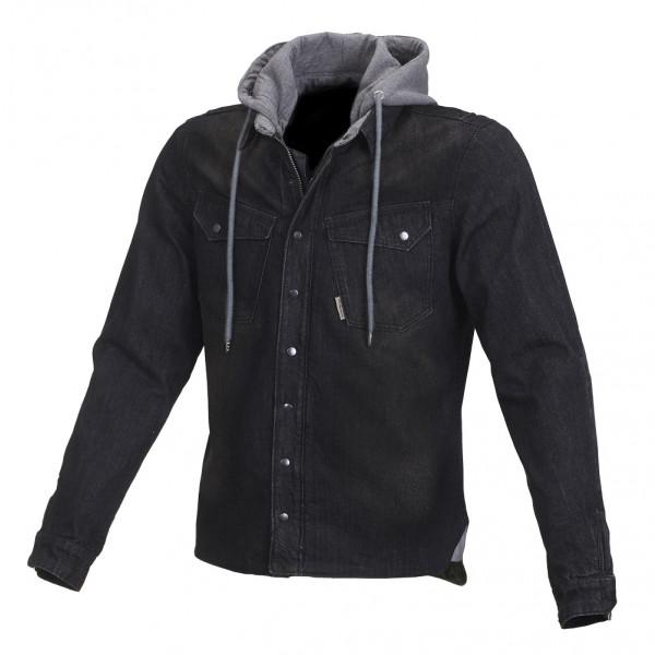 Giacca moto jeans Macna Westcoast con rinforzi in Kevlar nero verde