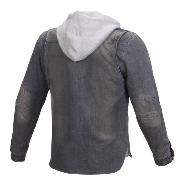 Giacca moto jeans Macna Westcoast rinforzi in Kevlar grigio grigio