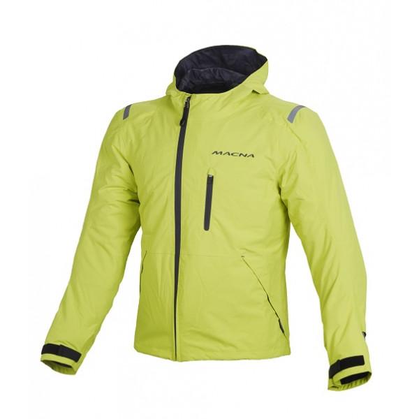 Giacca moto Macna Refugee WP giallo fluo grigio