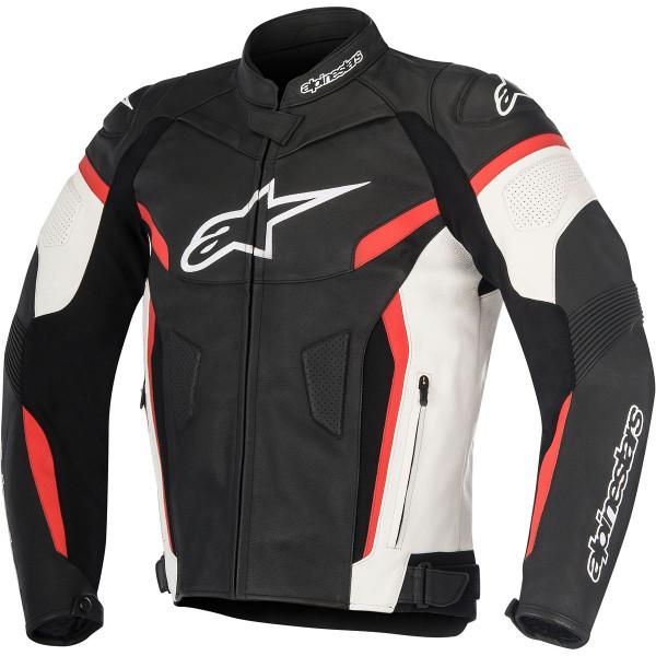 Giacca moto pelle Alpinestars GP PLUS R V2 nero bianco rosso