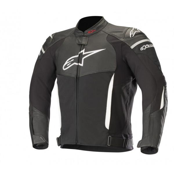 Giacca moto pelle Alpinestars SP X AIR nero bianco