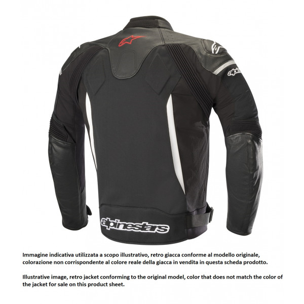 Giacca moto pelle Alpinestars SP X AIR nero nero