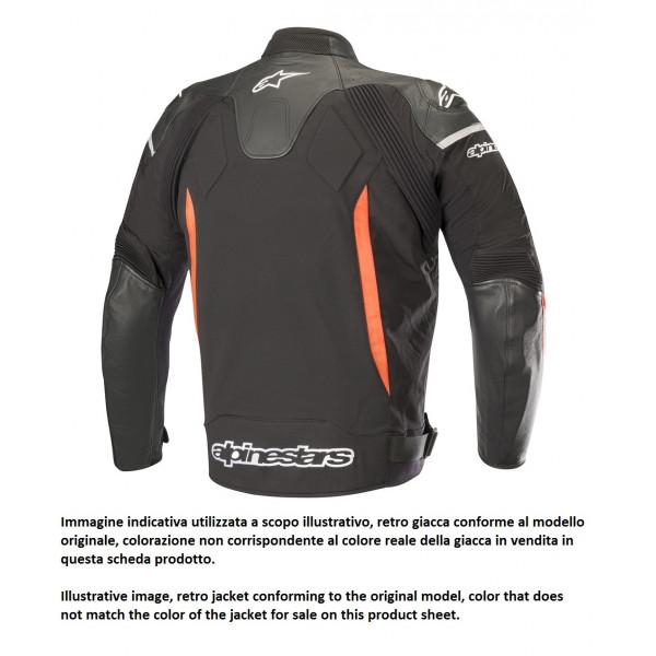 Giacca moto pelle Alpinestars SP X nero bianco