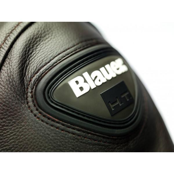 Giacca moto pelle Blauer THOR Marrone