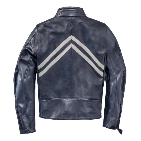 Giacca moto pelle Dainese72 FRECCIA72 Blu Bianco