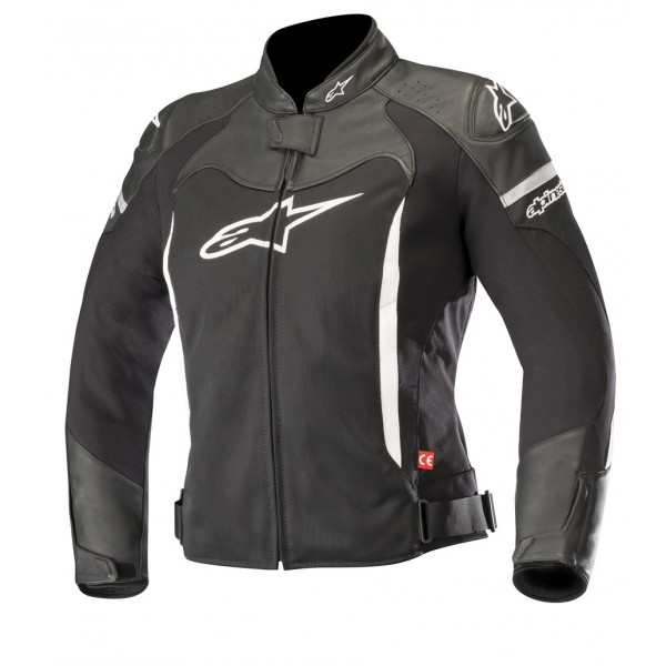 Giacca moto pelle donna Alpinestars STELLA SP X AIR nero bianco