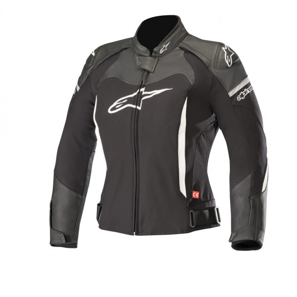 Giacca moto pelle donna Alpinestars STELLA SP X nero bianco