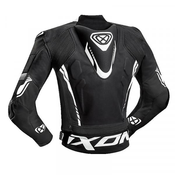 Giacca moto pelle estiva Ixon VORTEX 2 Nero Bianco