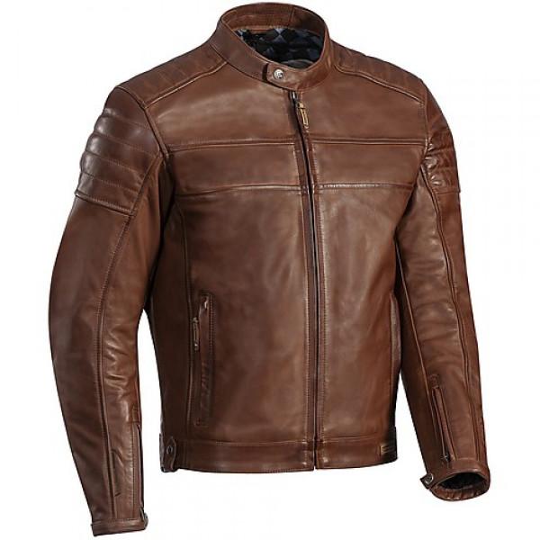 Giacca da moto in pelle Ixon Ninety 6 marrone