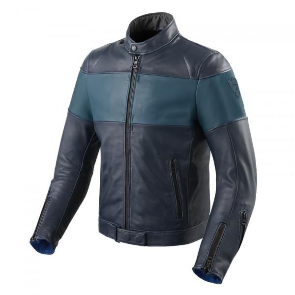 Giacca moto pelle Rev'it Nova Vintage Blu Blu
