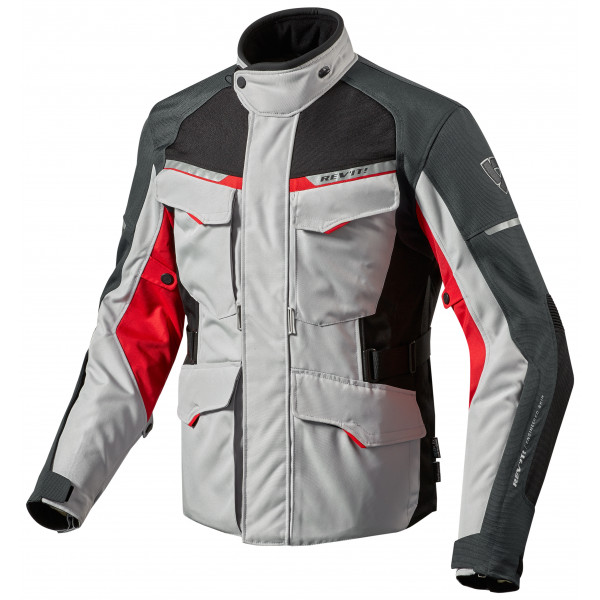 Giacca moto Rev'it Outback 2 argento rosso
