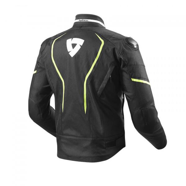 Giacca moto Rev'it Vertex H2O Nero Giallo Neon