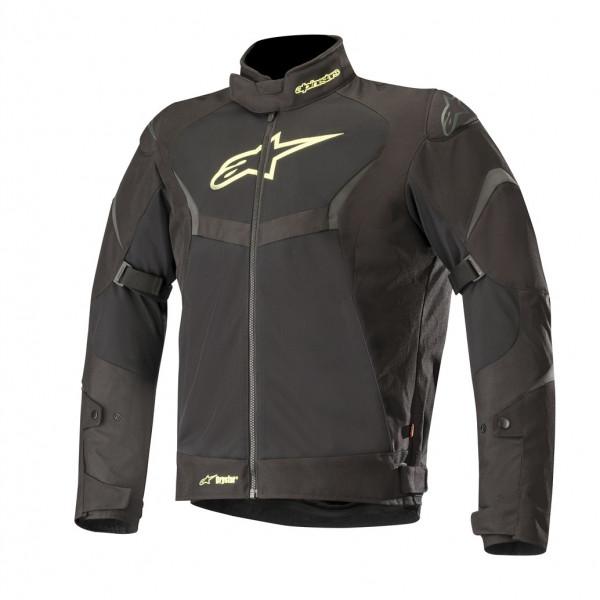 Giacca moto touring Alpinestars T-CORE AIR Drystar nero giallo fluo