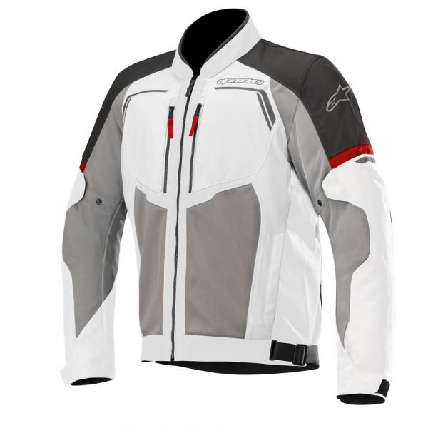 Giacca moto touring estiva Alpinestars DURANGO AIR grigio chiaro grigio scuro nero