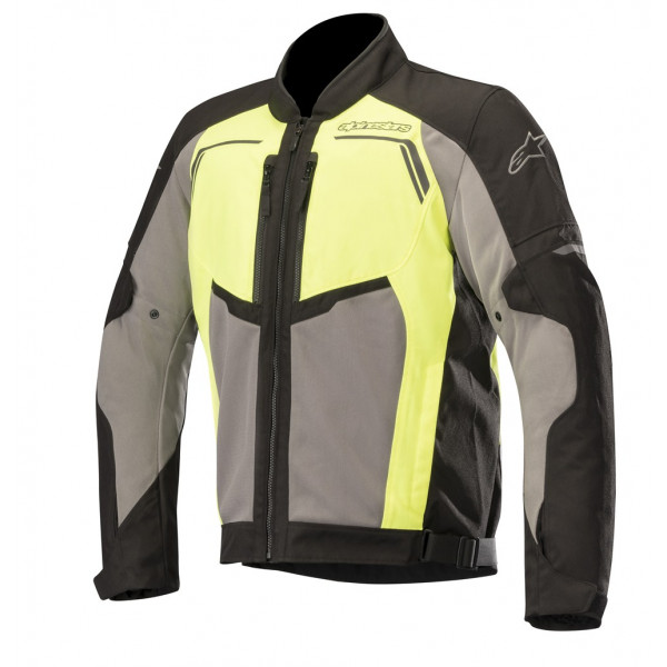Giacca moto touring estiva Alpinestars DURANGO AIR nero grigio scuro giallo fluo
