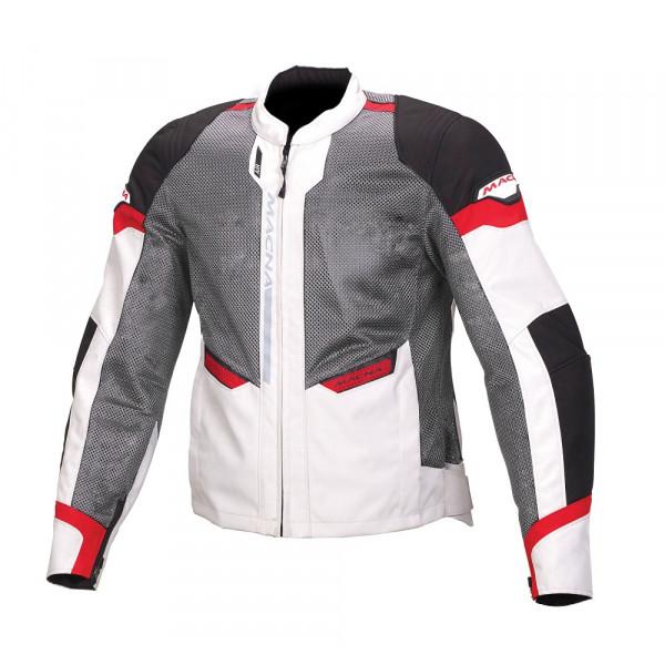 Giacca moto touring estiva Macna Event nero grigio rosso