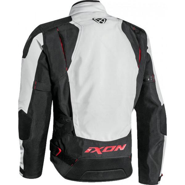 Giacca moto touring Ixon ARTHUS nero grigio rosso