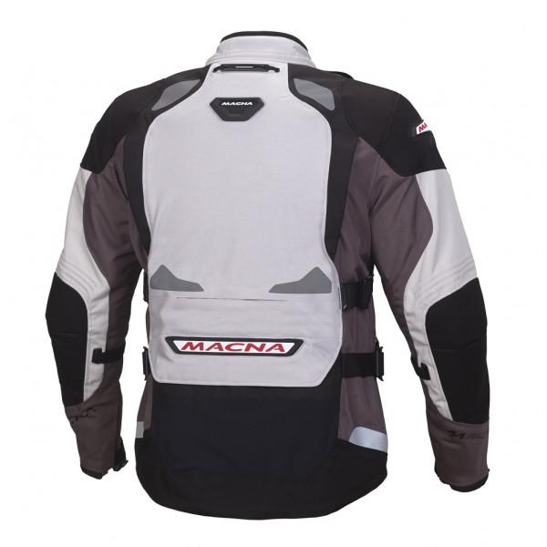 Giacca moto touring Macna Vosges WP 3 strati grigio chiaro grigio nero