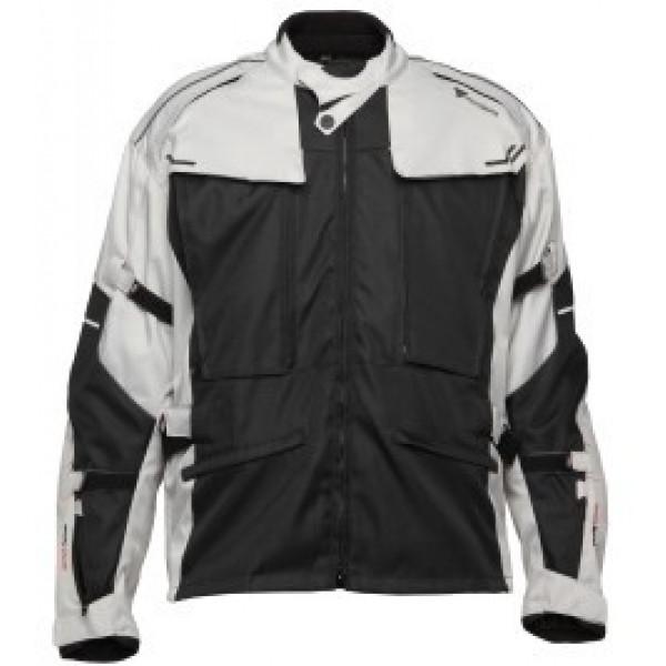 Giacca moto touring Modeka Mando nero grigio chiaro