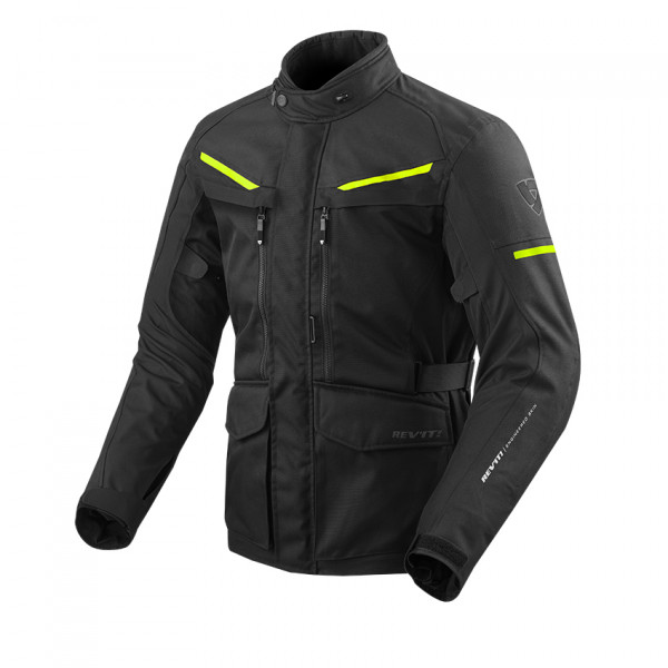 Giacca moto touring Rev'it Safari 3 Nero Giallo Neon