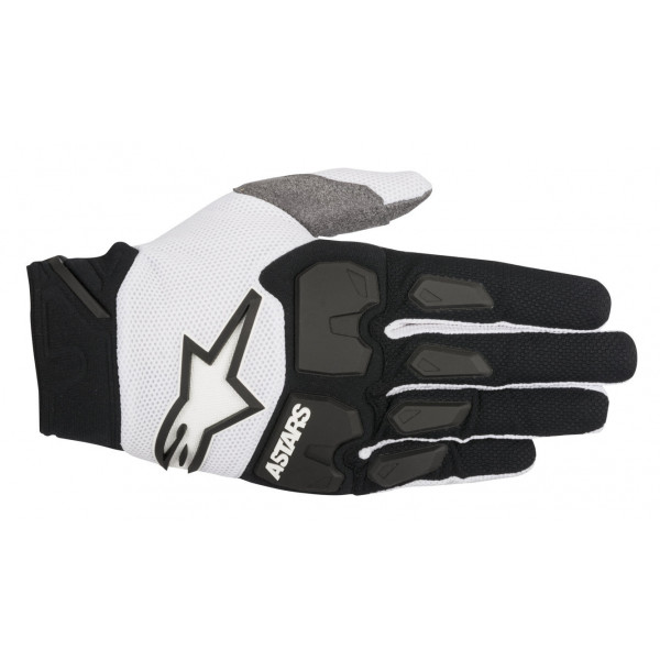 Guanti cross Alpinestars Racefend nero bianco