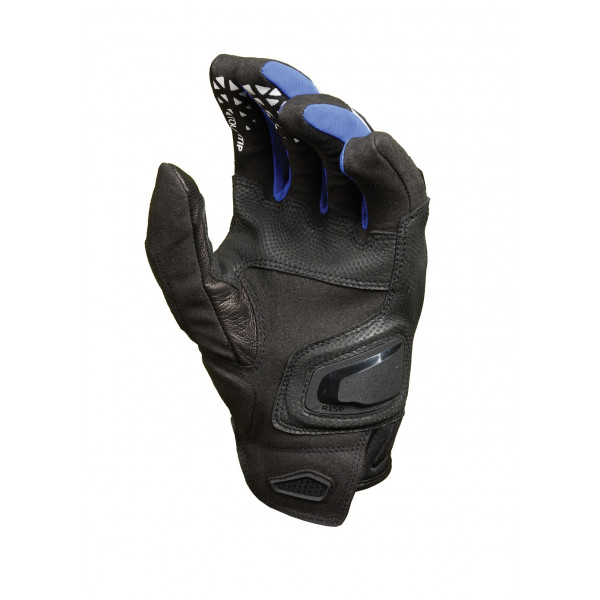 Guanti moto in pelle estivi Macna Assault nero blu