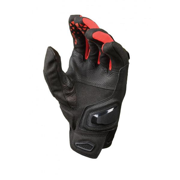 Guanti moto in pelle estivi Macna Assault nero grigio rosso