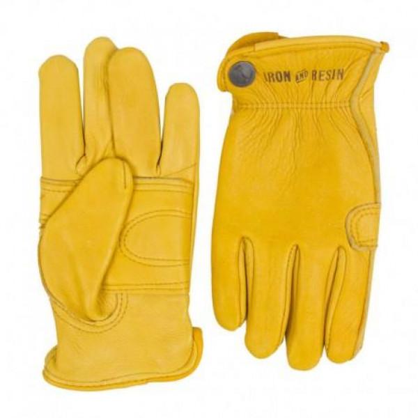 Guanti moto Iron e Resin Cafe Glove giallo oro