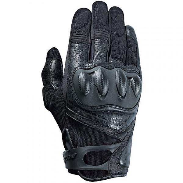 Guanti moto pelle e tessuto estivi Ixon RS DRIFT nero