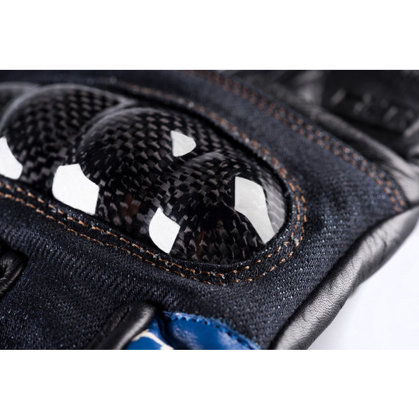 Guanti moto pelle estivi Blauer Combo Carbon Denim USA nero