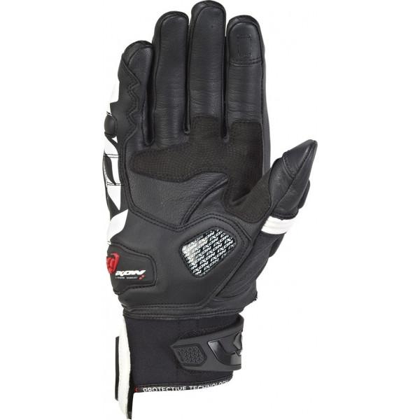 Guanti moto pelle estivi Ixon RS RECALL Nero Bianco
