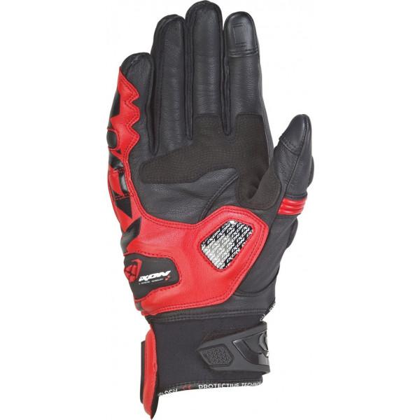 Guanti moto pelle estivi Ixon RS RECALL Nero Rosso