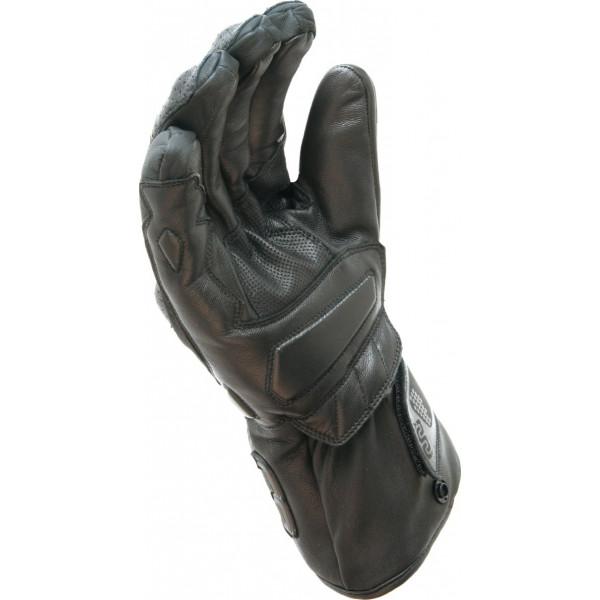 Guanti moto pelle Oj Twin  neri con guanti interni estraibili