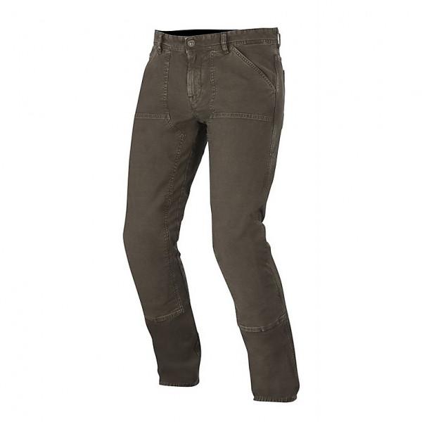Jeans moto Alpinestars Oscar Tom Canvas marroni