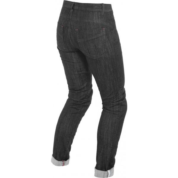 Jeans moto donna Dainese ALBA SLIM LADY Nero Rinsed