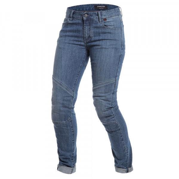 Jeans moto donna Dainese AMELIA SLIM blu medio