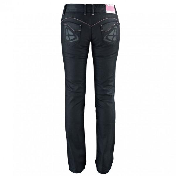 Jeans moto donna Ixon BRITNEY con rinforzi in Kevlar nero