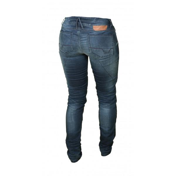 Jeans moto donna Macna Jenny con rinforzi in Kevlar blu
