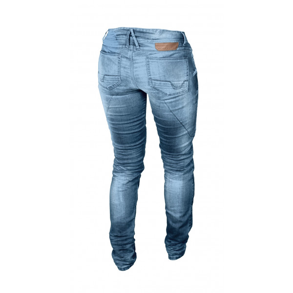 Jeans moto donna Macna Jenny con rinforzi in Kevlar blu chiaro