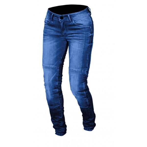 Jeans moto donna Macna Jenny con rinforzi in Kevlar blu medio